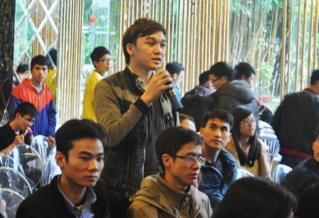 Các bạn học sinh, sinh viên tài năng tham gia buổi giao lưu học hỏi kinh nghiệm từ CEO trẻ