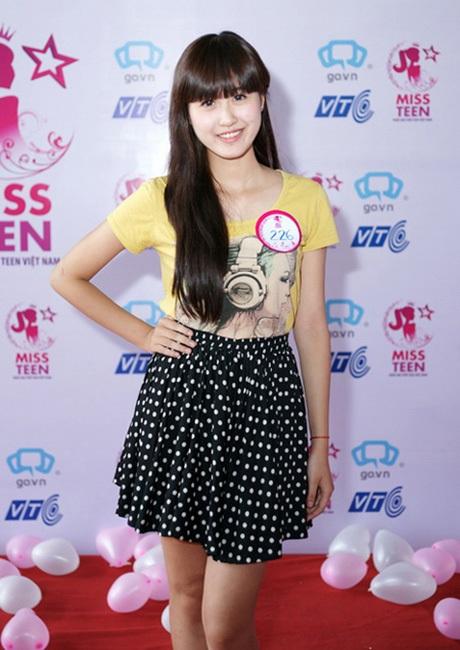 Hà Lade khi tham gia cuộc thi Miss Teen 2011. Lúc này cô có gương mặt bầu bĩnh đáng yêu