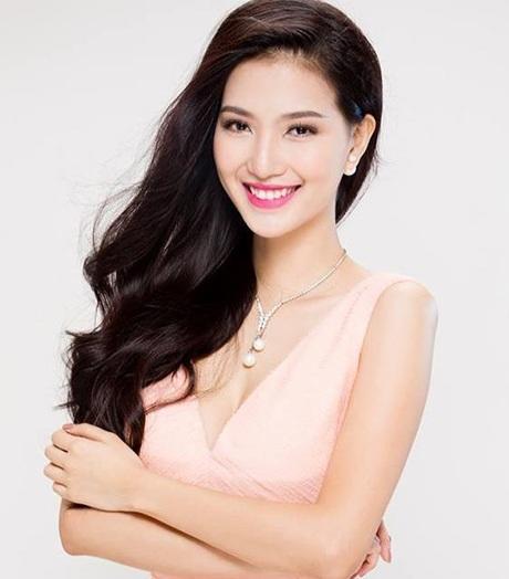 Hình ảnh của cô khi dự thi Hoa hậu Việt Nam 2014