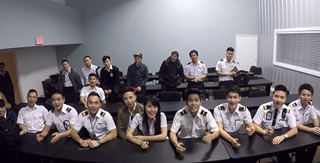 Những học viên châu Á của một ngôi trường đào tạo phi công Mỹ