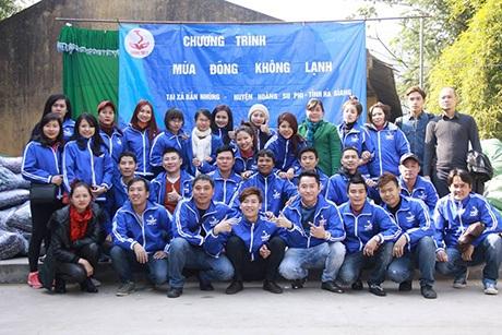 Chương trình từ thiện của nhóm tại tỉnh Hà Giang.