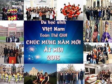 Du học sinh Việt Nam toàn thế giới chúc tết Ất Mùi 2015