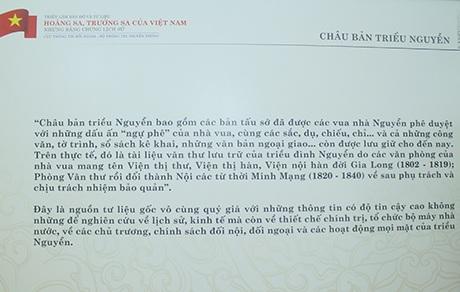 Giới thiệu về các tư liệu Châu bản triều Nguyễn
