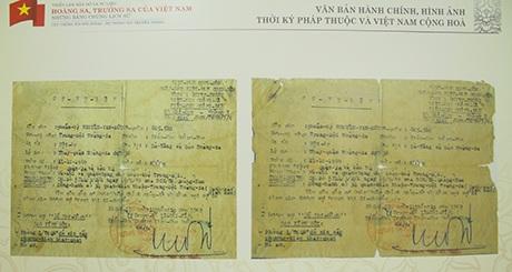 Văn bản hành chính, hình ảnh thời kỳ Pháp thuộc và Việt Nam cộng hòa
