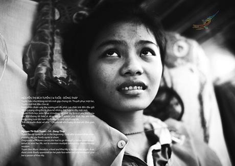 Nguyễn Thị Hồng Thắm, 9 tuổi,Thắm mắc