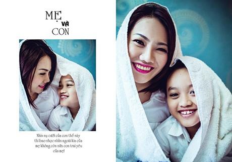 Hai mẹ con Lê Thanh và Nguyễn Minh Hưng