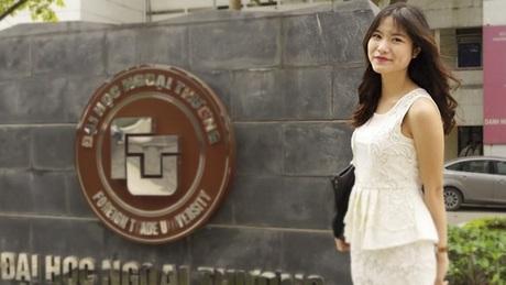 Hoa Khôi Ngoại Thương 2012 với vẻ ngoài xinh xắn.