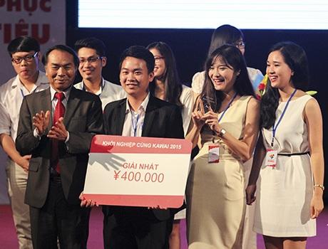 Mai Trang và nhóm của mình đoạt giải Nhất Khởi nghiệp