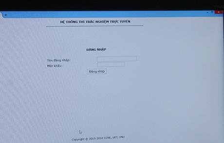 Máy tính đã được bật sẵn: Hệ thống thi trắc nghiệm trực tuyến