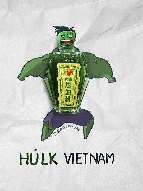 Anh hùng cơ bắp Hulk từ lọ dầu gió