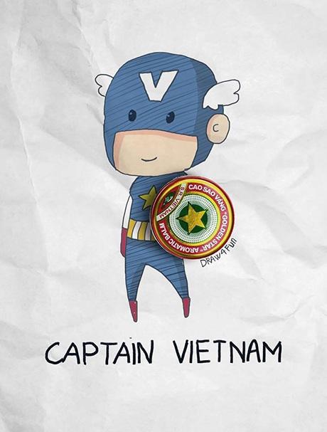 Captain Việt Nam với chiếc khiên Cao Sao vàng