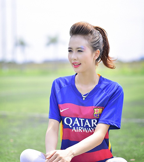 Không chỉ có Barca, Giang rất thích môn bóng đá nói chung
