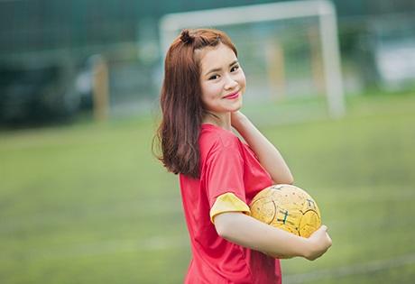 Nhật Phương là fan cuồng nhiệt của đội tuyển Việt Nam