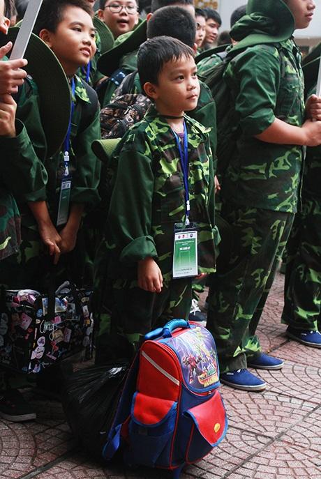 Chiến sỹ Nguyễn Thành Lâm nhỏ tuổi nhất trong số 200 bạn tham gia Học kỳ quân đội đợt này