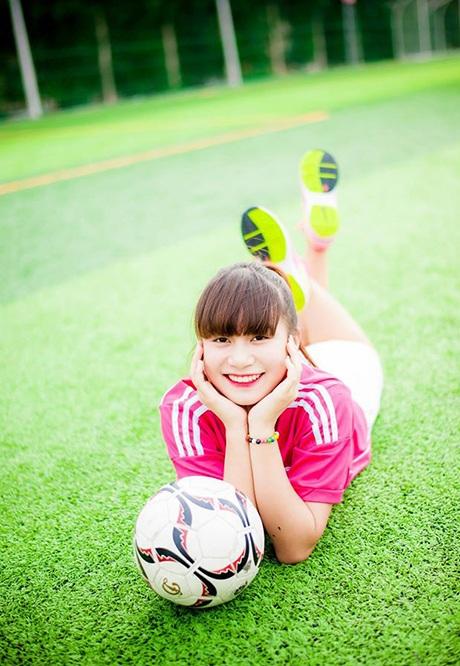 Từ lâu, Phương đã yêu thích bóng đá.