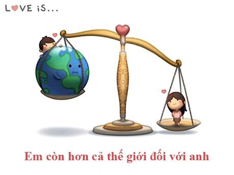 Tình yêu là khi coi nửa kia còn hơn cả thế giới
