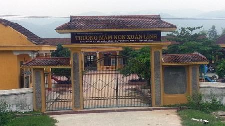 Trường mầm non Xuân Lĩnh (Nghi Xuân, Hà Tĩnh) nơi bà Vân đã giữ chức hiệu trưởng suốt 14 năm.