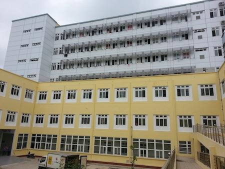 BVĐK Nghệ An mới - nơi bệnh nhân H. nhảy từ tầng 6 xuống.