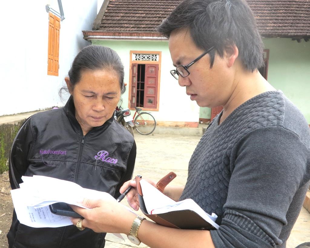 Bà Đào hộ dân không có tên trong danh sách thì nhận được 300 ngàn đồng.