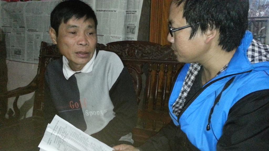 Ông Trương Văn Chương, xóm trưởng xóm Bục cho PV biết: Hiện xóm ông vẫn chưa phát đồng nào.