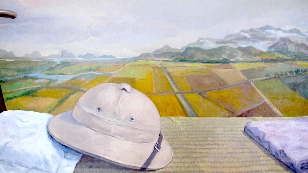 Kỷ vật của Bác (ảnh sơn dầu của Lê Huy Tiếp - Hà Nội).
