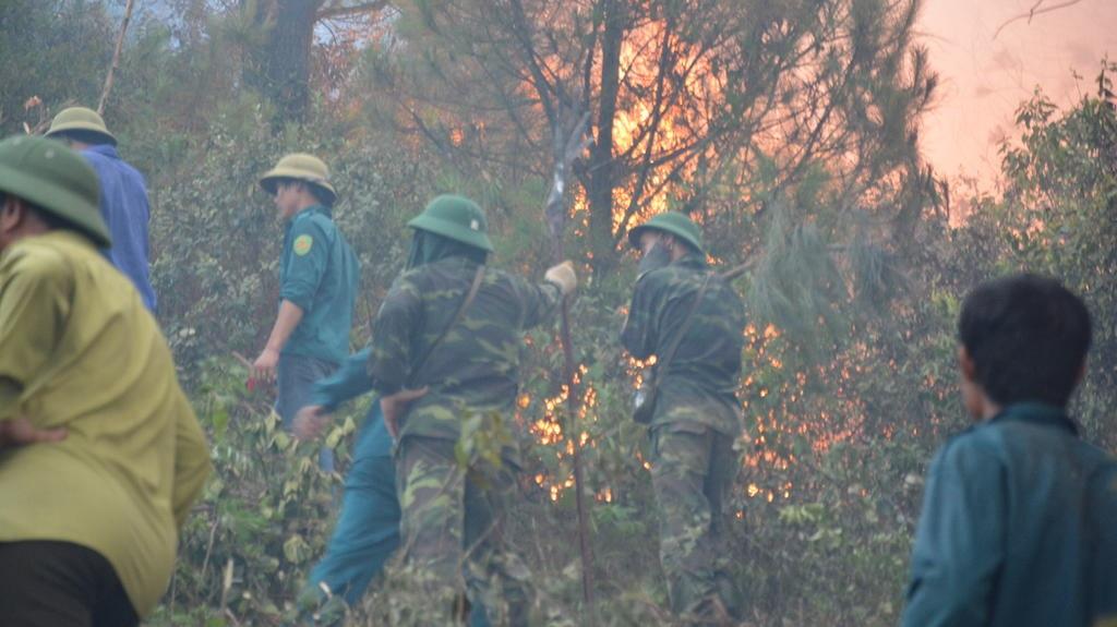 Được biết, đến tối ngày 25/5, đám cháy vẫn tiếp tục.
