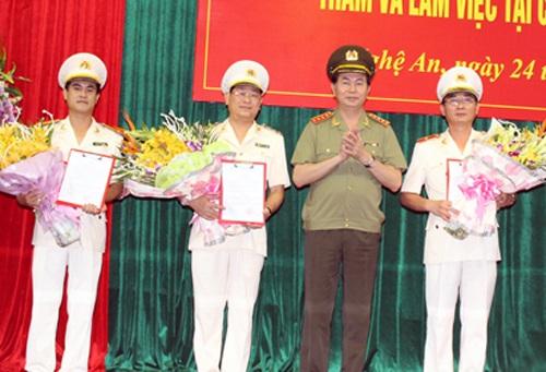 Công an tỉnh Nghệ An có giám đốc mới