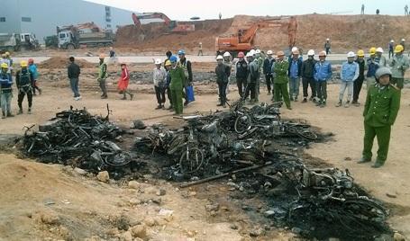 Công tác an ninh tại nhà máy Samsung Thái Nguyên được tăng cường.
