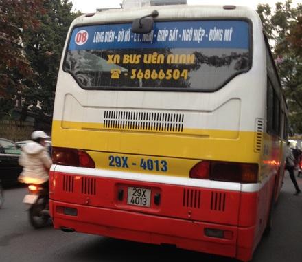 Nhiều hành khách đi tuyến xe buýt này được phen hú vía và phải di chuyển bằng phương tiện khác.