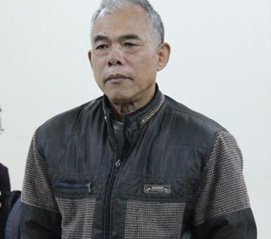 Bị cáo Vương Ngọc Huệ tại phiên tòa.