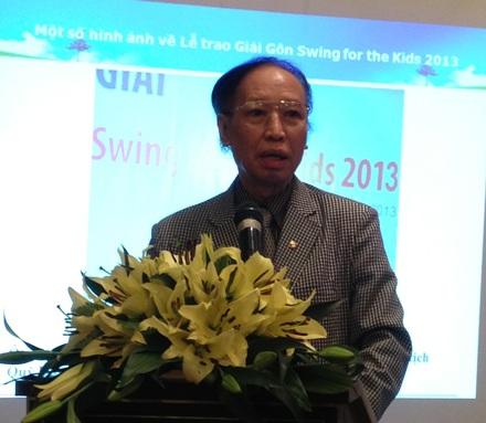 Ông Phạm Huy Hoàn, Tổng Biên tập báo Điện tử Dân trí, Chủ tịch Quỹ Khuyến học Việt Nam.