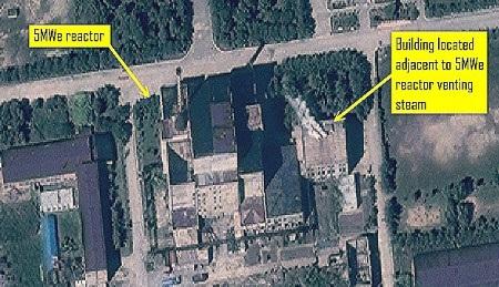 Khu liên hợp Yongbyon nhìn từ trên cao