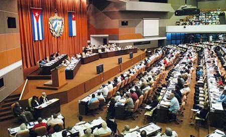Một phiên họp của quốc hội Cuba
