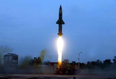 Prithvi-II là tên lửa do Ấn Độ tự chế tạo (Ảnh: