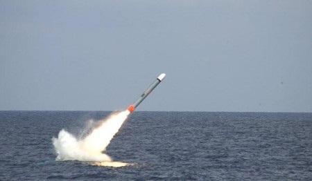 Tên lửa hành trình Tomahawk do tập đoàn Raytheon chế tạo (Ảnh: Internet)