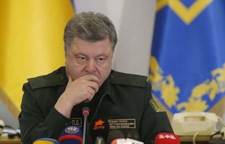 Tổng thống Ukraine Petro Poroshenko (Ảnh: EPA)