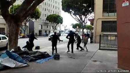 Hình ảnh về cuộc ẩu đả trước vụ nổ súng (Ảnh: Facebook)