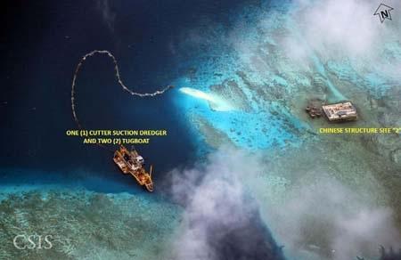 Trung Quốc tuyên bố xây lấn đảo nhân tạo ở Biển Đông vì mục đích quân sự
