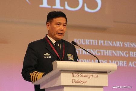 Đô đốc Tôn Kiến Quốc, Phó tổng tham mưu trưởng Quân giải phóng nhân dân Trung Quốc (Ảnh: Xinhua)