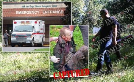 David Sweat bị bắt sau 22 ngày trốn trại (Ảnh: NY Daily)