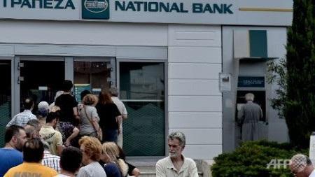Nhiều máy ATM tại thủ đô Hy Lạp ngày 28/6 không còn tiền (Ảnh: