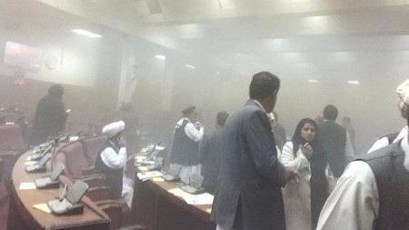 Vụ tấn công xảy ra đúng lúc Quốc hội Afghanistan đang nhóm họp (Ảnh: