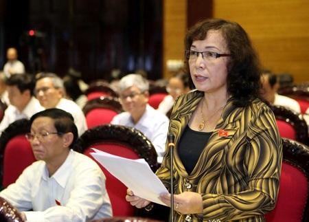 Đại biểu Nguyễn Thanh Thụy nêu ý kiến về Luật Hàng không dân dụng sửa đổi