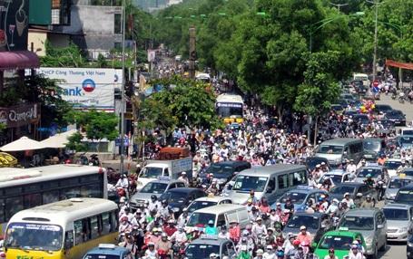 Một điểm đen thường xuyên ùn tắc giao thông trên địa bàn Hà Nội
