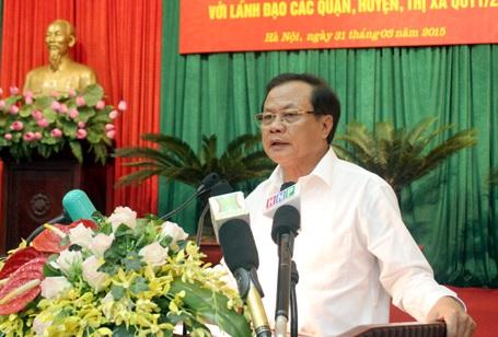 Ông Phạm Quang Nghị - Bí thư Thành ủy Hà Nội nói về việc thay thế cây xanh