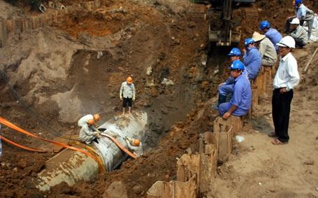 Đường ống nước sạch sông Đà số 1 vẫn có nguy cơ vỡ, nhưng đường ống số 2 chưa được khởi công