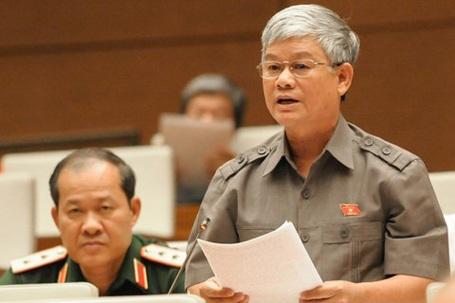 Đại biểu Nguyễn Anh Sơn (Nam Định) cho ý kiến trước hội trường (Ảnh: Ngọc Châu)