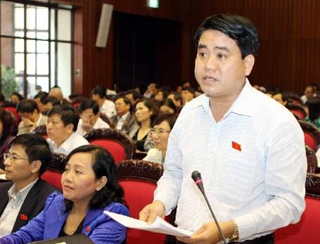 Giám đốc Công an TP Hà Nội Nguyễn Đức Chung cho ý kiến dự án Luật tổ chức cơ quan điều tra hình sự