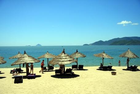 Một bãi biển trong xanh ở Nha Trang