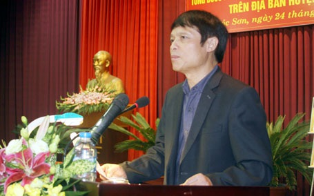 Ông Nguyễn Minh Nguyệt - Bí thư huyện Sóc Sơn - một trong số những lãnh đạo huyện xin nghỉ hưu sớm